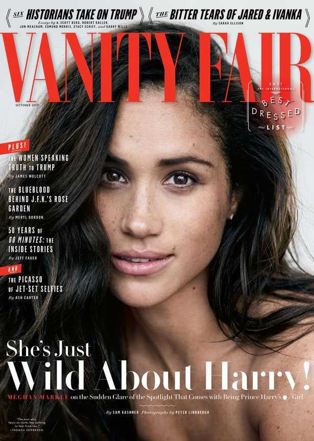 Prins Harrys flickvän Meghan Markle på omslaget till Vanity Fair