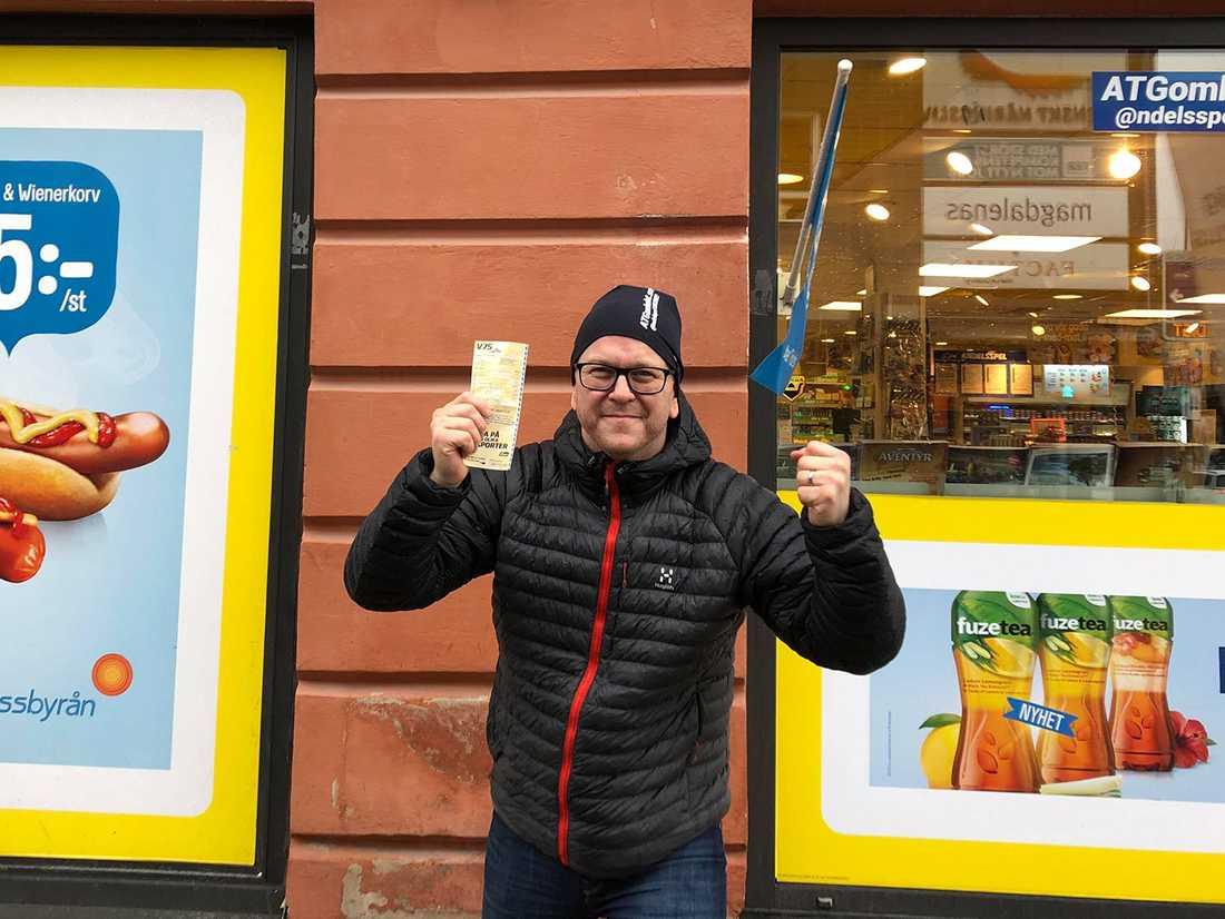 Calle Jakobsson hos Pressbyrån Svava i Uppsala