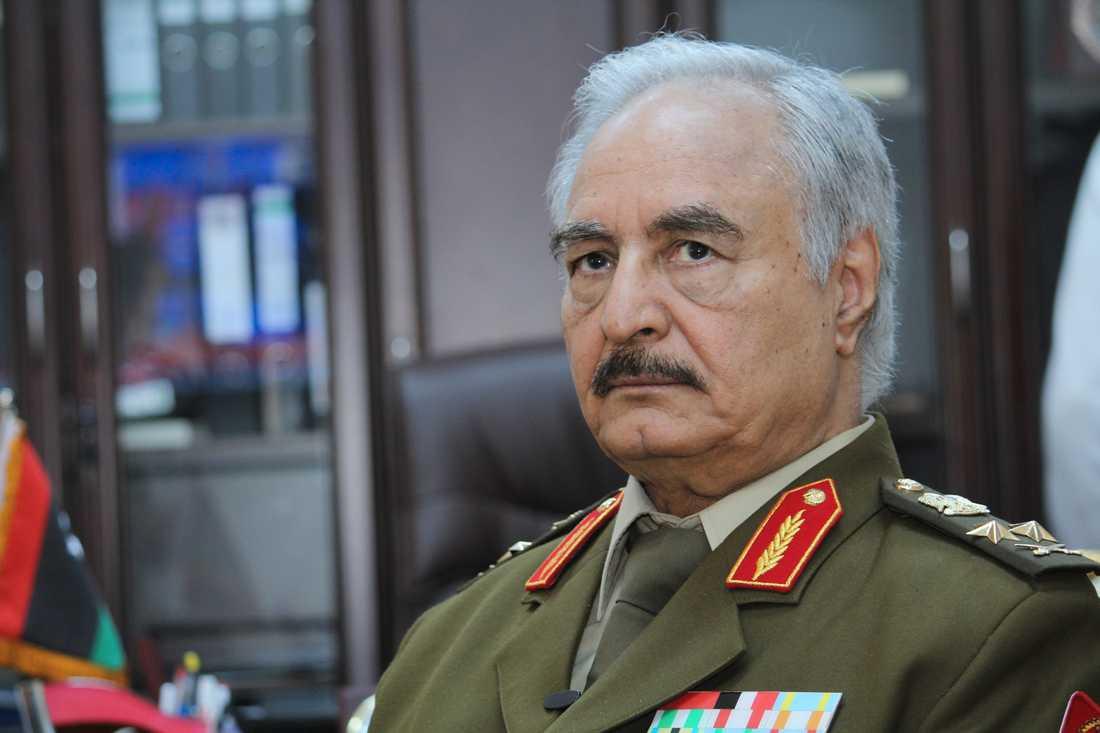 Den libyske krigsherren Khalifa Haftar. Arkivbild.