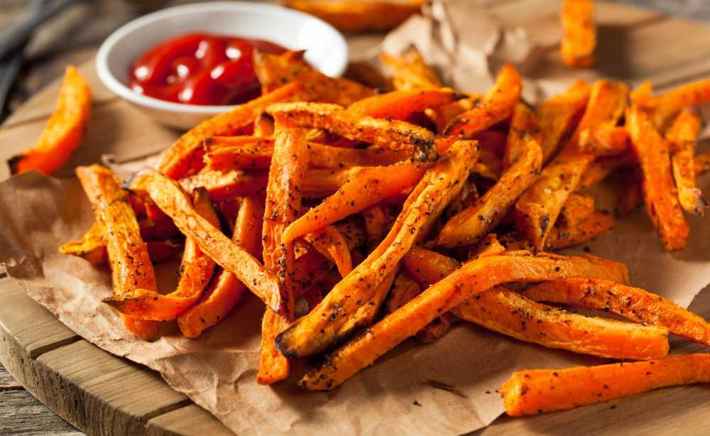 Sötpotatis pommes – passar perfekt till grillat.