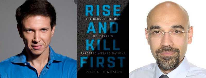 """Ronen Bergman, t v, utkom 2018 med boken """"Rise and kill first"""", om Israels bruk av riktade mord. Å ena sidan har man utvecklat mer pricksäkra metoder, å andra sidan har acceptansen för s k collataral damage ökat, skriver Rouzbeh Parsi, t h."""