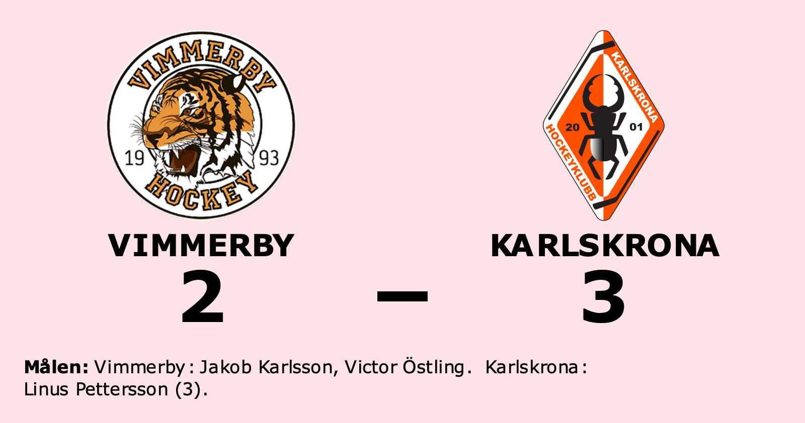 Stark seger för Karlskrona i toppmatchen mot Vimmerby