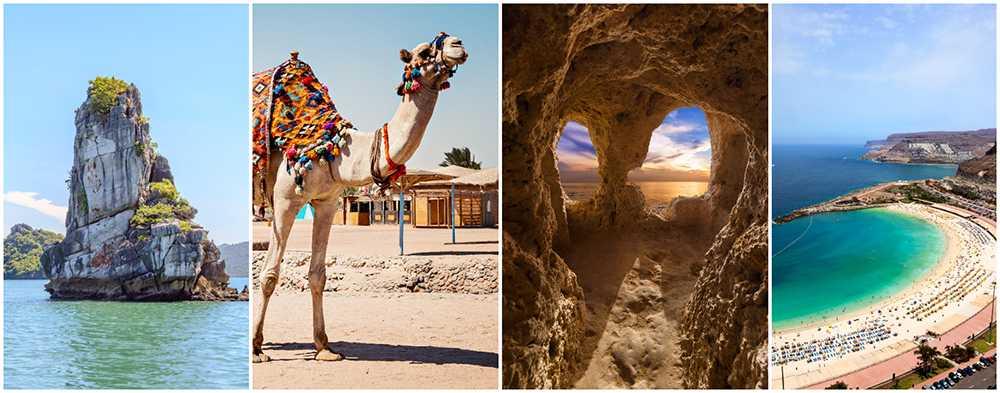 Phu Quoc, Hurghada, Kap Verde och Gran Canaria
