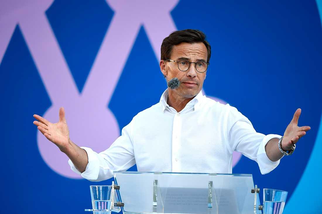 Kristersson säger sig vilja genomföra den största språkreformen i svensk historia.