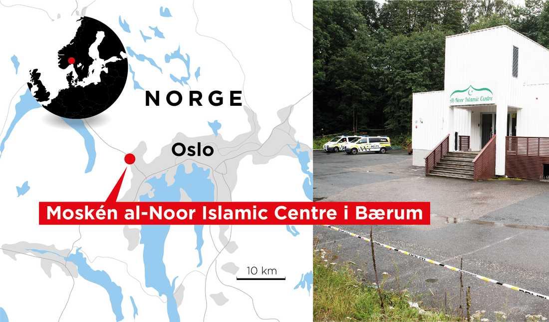 Manshaus försökte enligt polisen utföra ett terrordåd moskén i norska Bærum.