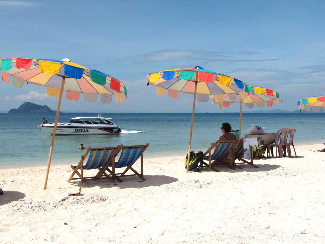 Härlig strand i Thailand.