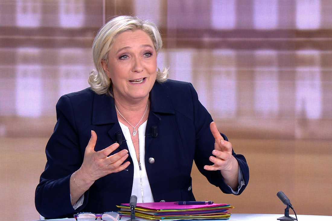 Segern var viktig för Marine Le Pen men hon vann inte debatten.