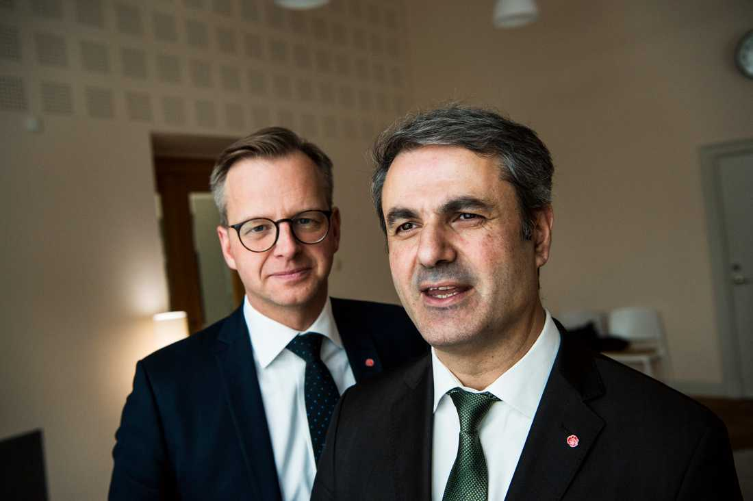 Mikael Damberg  (S) och Ibrahim Baylan (S).