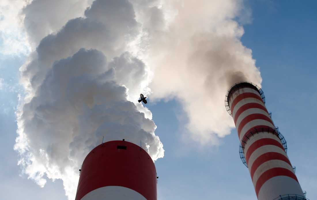Eldning med förorenande bränslen ökar på många håll nu när det blir kallare. Arkivbild från ett kolkraftverk öster om Belgrad.