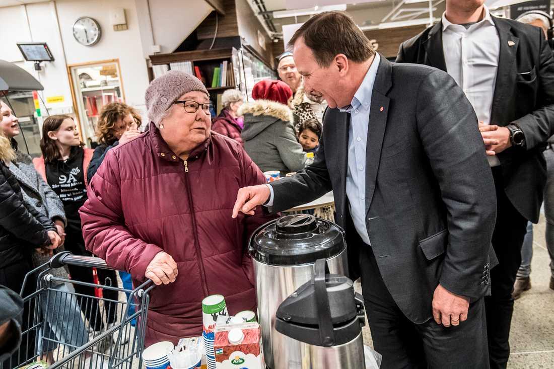 Bland de exempel på S-segrar Löfven nämner finns förbättringar för landets pensionärer.