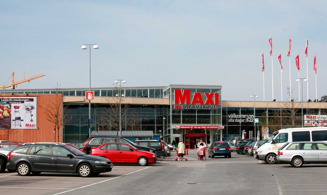 Ica Maxi i Nacka utanför Stockholm.