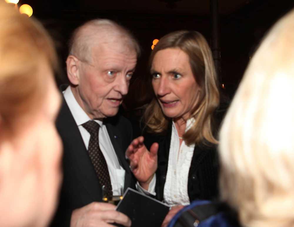 Per Unckel med länspolismästaren i Stockholm Carin Götblad på Svenska hjältar-galan 2010.