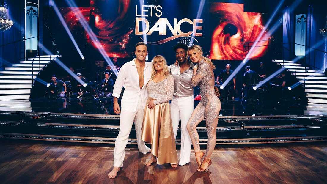 "Sussie Eriksson och Calle Sterner möter John Lundvik och Linn Hegdal i finalen av ""Let's dance""."