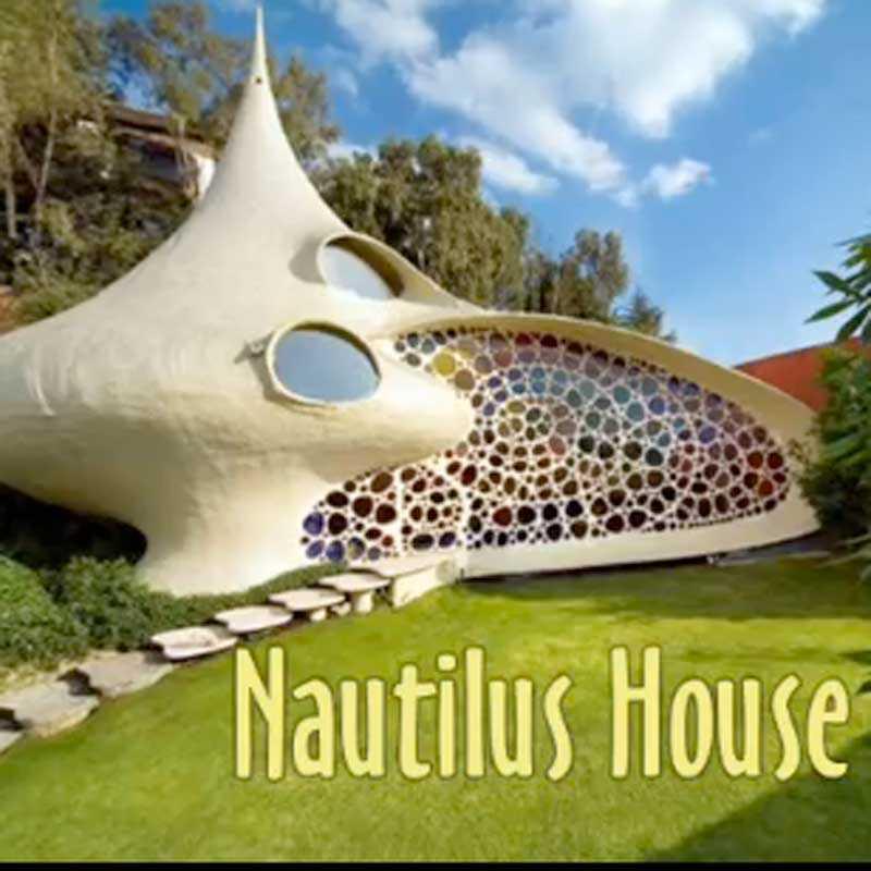 Det snäckformade huset ligger i Mexico City.