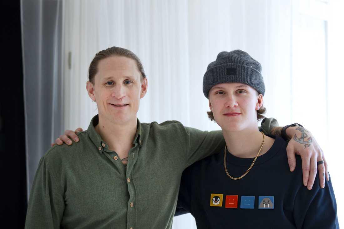 Jonte Hedström och Mattias Höglund.