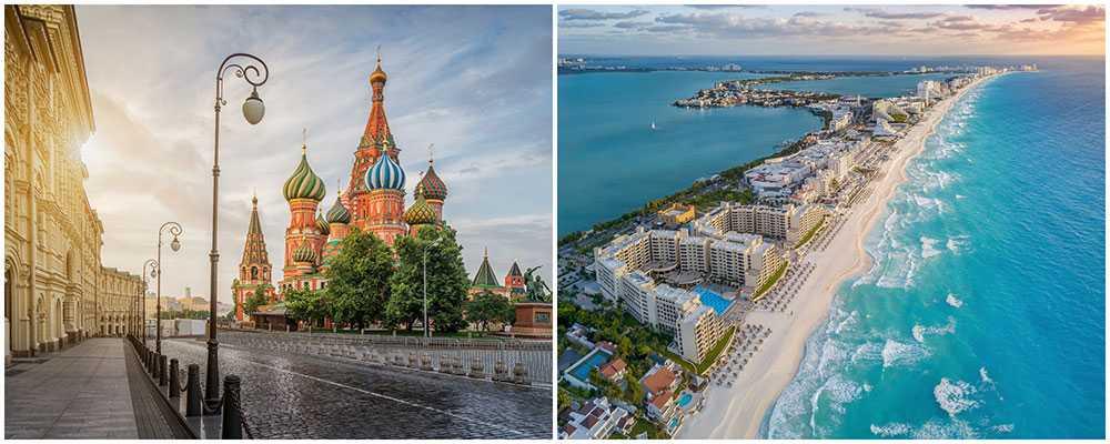 Nu kan du flyga direkt till Moskva och Mexiko.