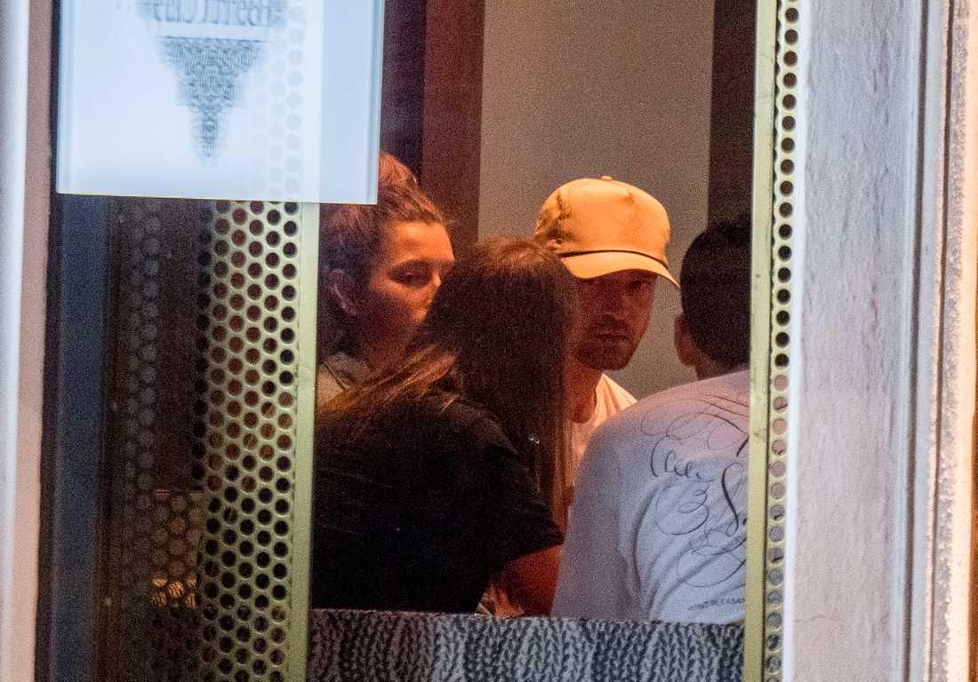 Justin Timberlake och Jessica Biel på krogen Beirut Café på Östermalm i centrala Stockholm