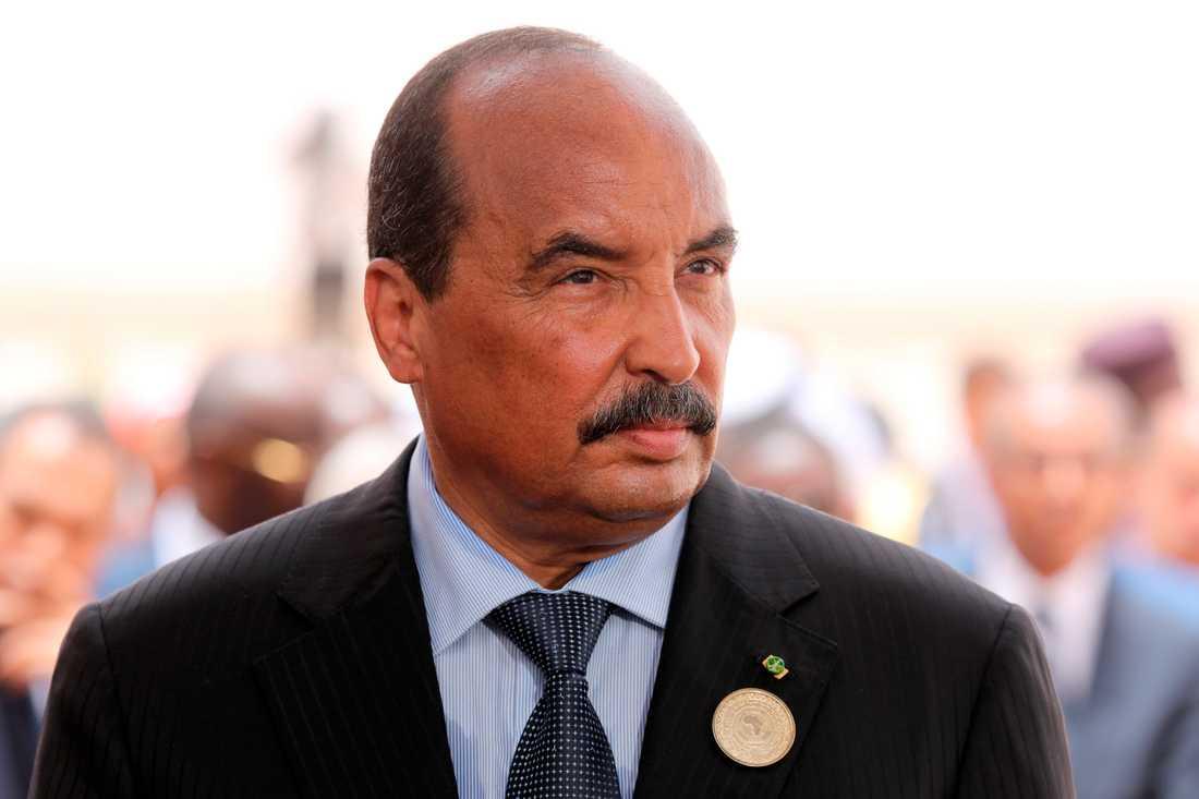 Mauretanien har skakats av politiska skandaler de senaste åren. I fjol lämnade Mohamed Ould Abdel Aziz (bilden) presidentposten efter korruptionsanklagelser. Arkivbild.