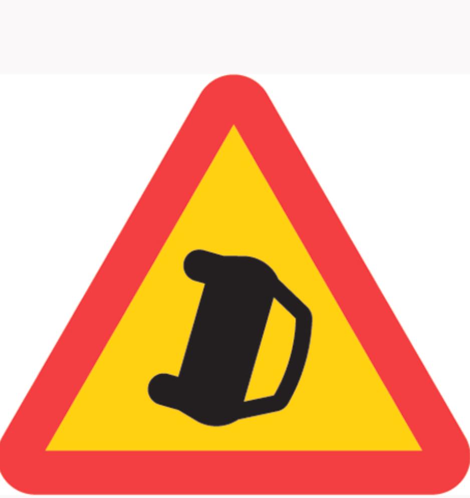 A41. Varning för olycka.