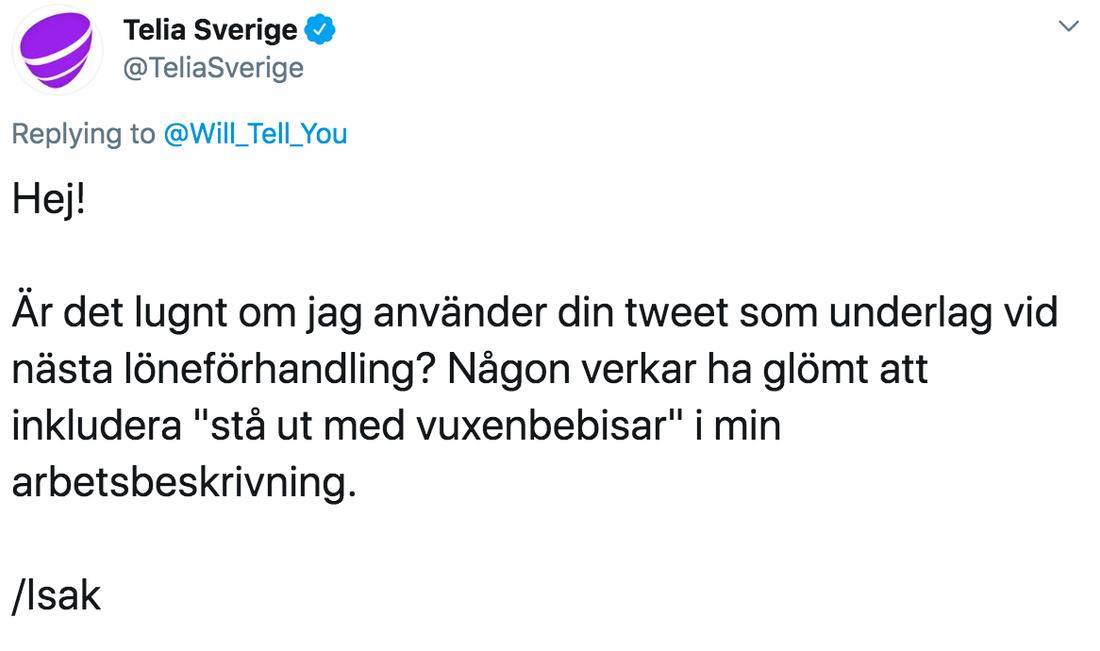 """Isak vill slippa """"stå ut med vuxenbebisar""""."""