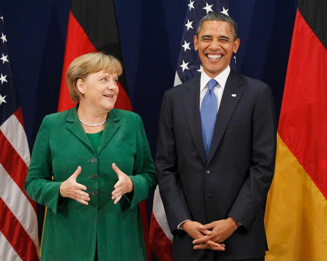 Merkel och Obama ser nöjda ut på G20-mötet för några år sedan. Då fick Putin komma.