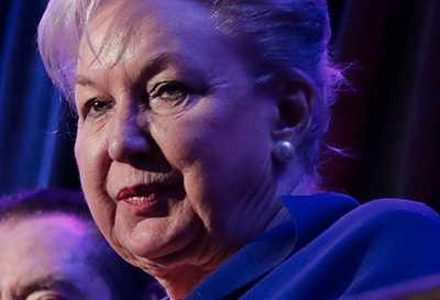 Maryanne Trump Barry, 83, är pensionerad federal domare.