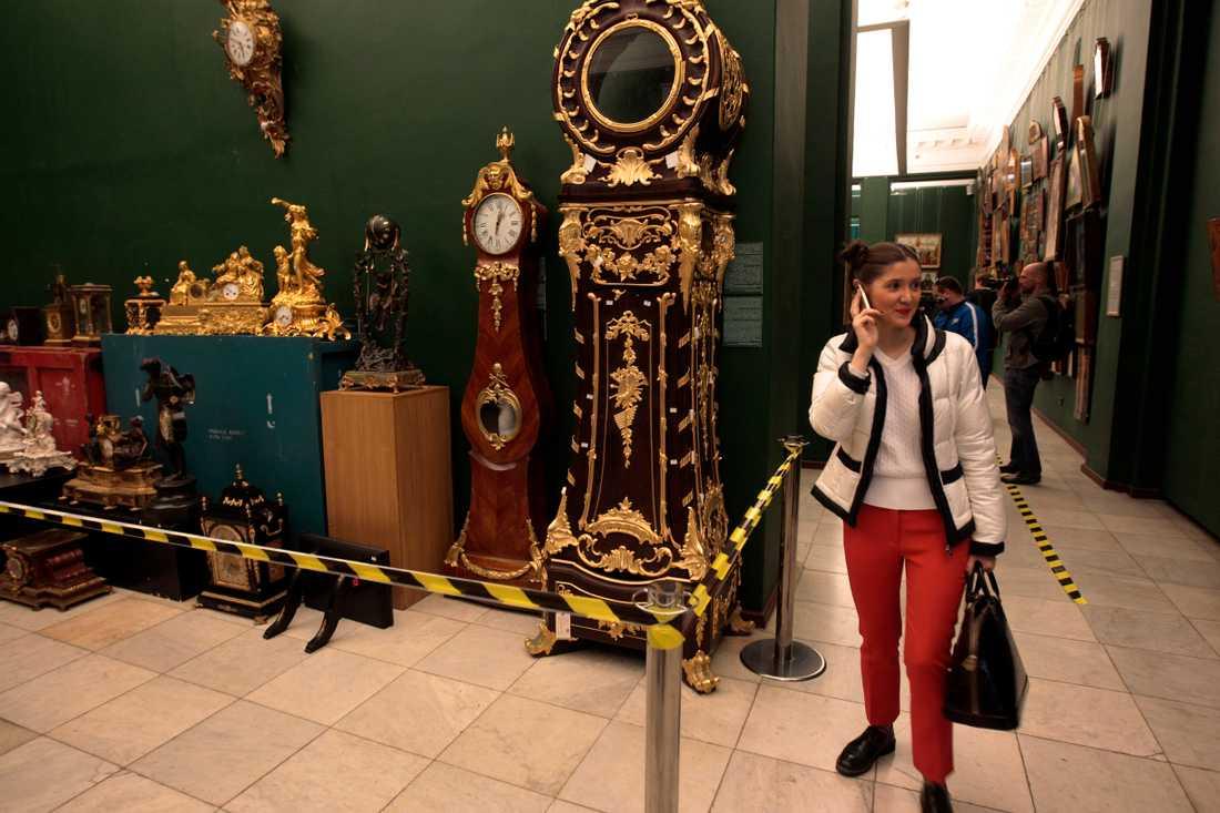 Ukrainas expresident Viktor Janukovytj blev en symbol för ohämmad korruption. Här ställs några av hans många överdådiga ägodelar ut på museum i huvudstaden Kiev. Arkivbild.