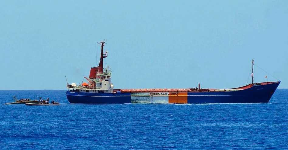 Frihetsflottans M/S Rachel Corrie som stoppades av Israel i helgen.