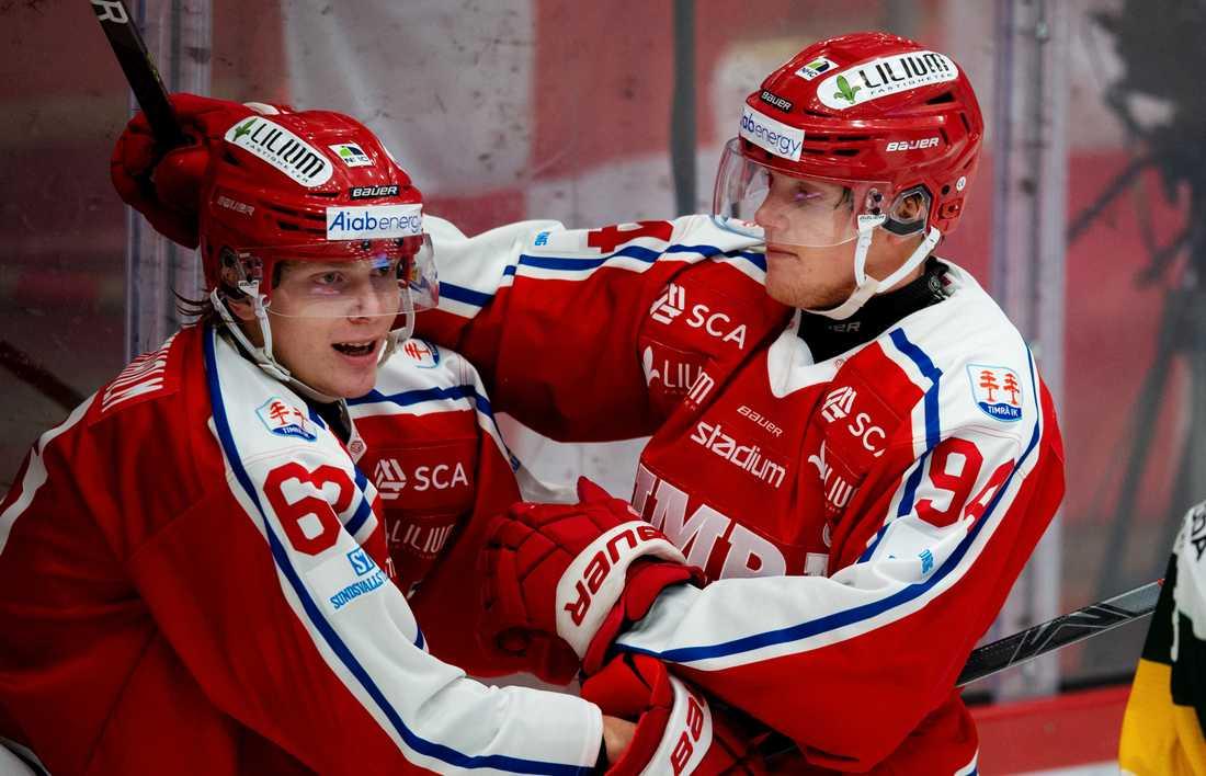 Timrå-jubel under en tidigare match denna säsong.
