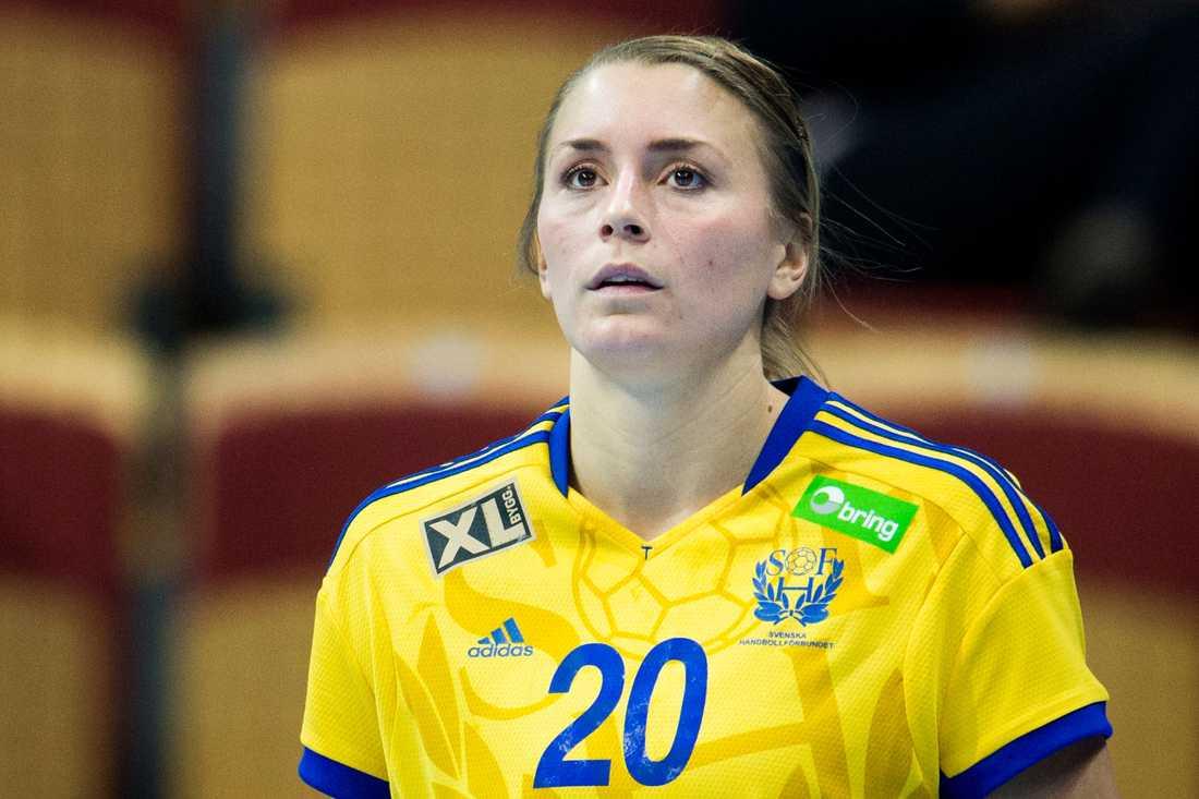 Isabelle Gulldén Ålder: 25. Position: Mittnia. Klubb: Viborg.