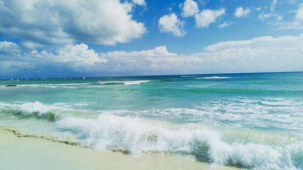 Stranden i Playa del Carmen.