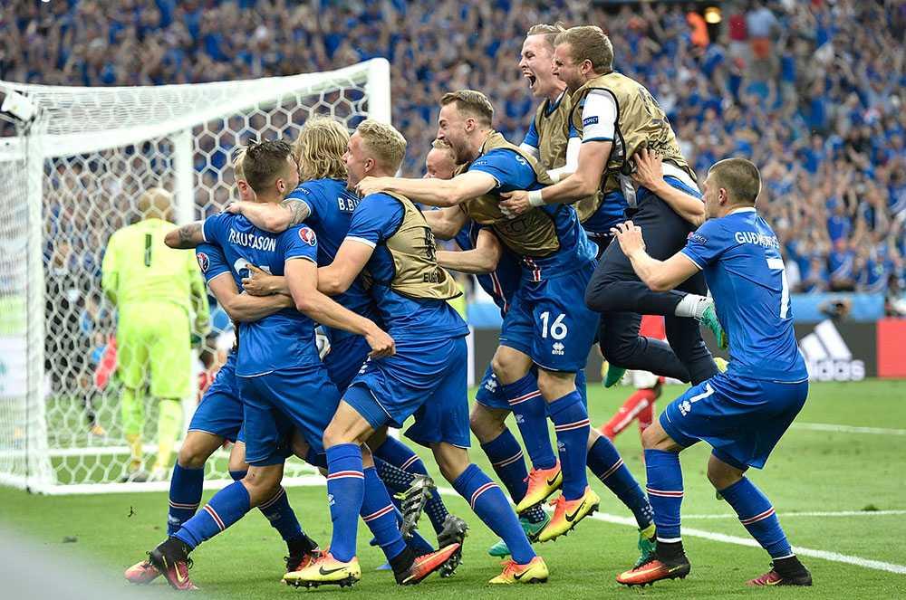 Isländskt jubel efter historiska segern