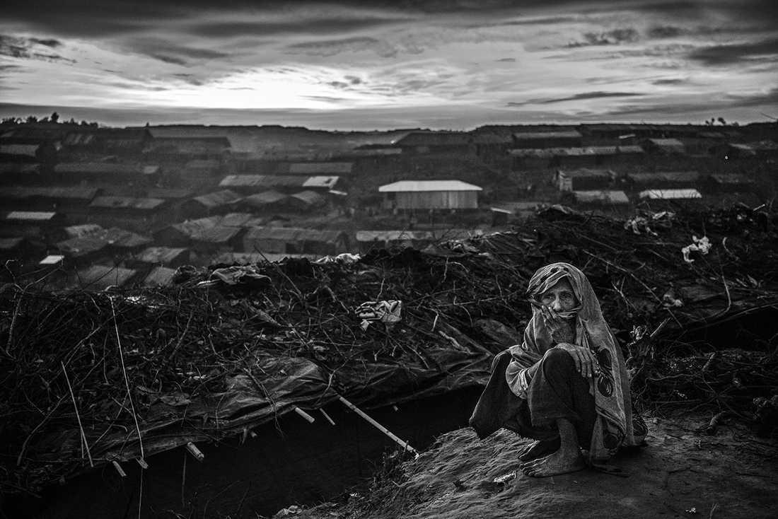 Flyktinglägret Balukali, Bangladesh.