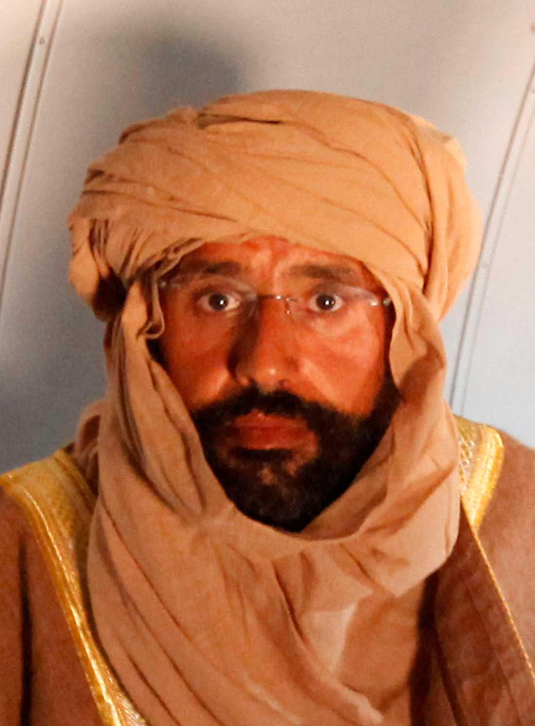 Saif var Muammar Gaddafis favoritson.