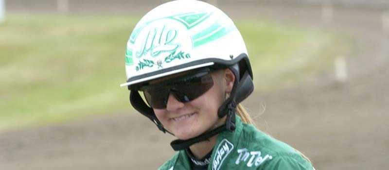 Debut Maija Lähdekorpi gör debut i ett montélopp på Jägersro.