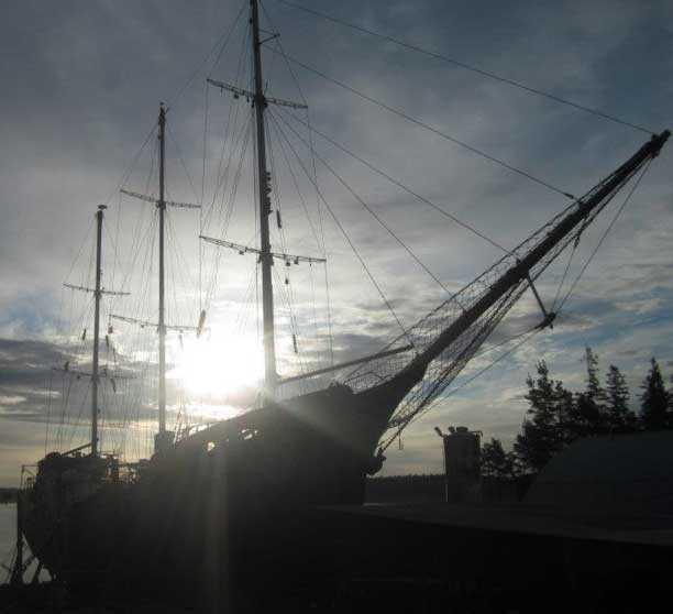Segelskonaren Estelle, som snart seglar mot Gaza.