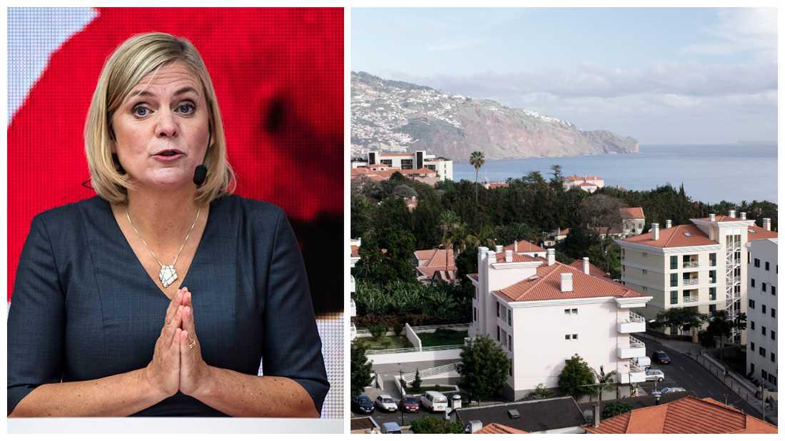 Magdalena Andersson har fått ett portugisiskt löfte om att beskatta svenskars privata tjänstepensioner i landet.