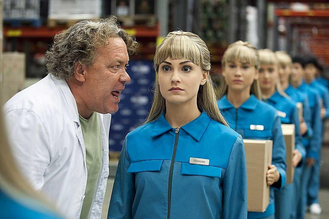 Leif Andrée och arbetsrobotar.