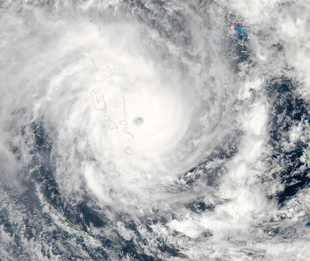 Nasa-bilden visar Pam från rymden