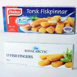 Findus Fiskpinnar hade minst fisk i sig, Royal Arctic mest fisk av de testade sorterna.