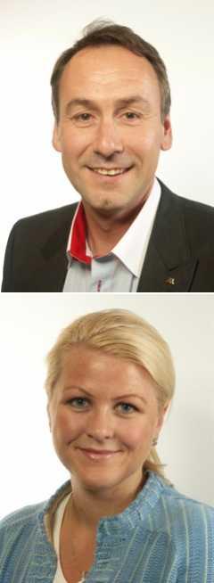 Sten Bergheden, landsbygdspolitisk talesperson (M) och Ulrika Karlsson, gruppledare EU-nämnden (M).