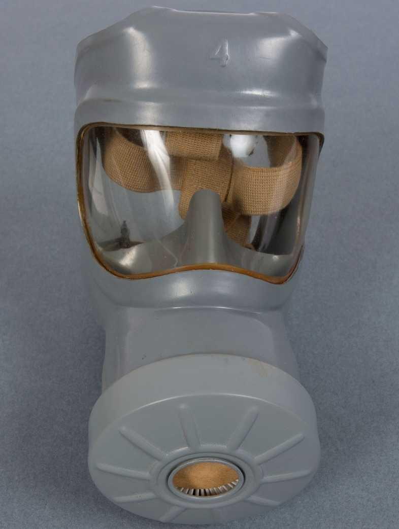 """""""Folkskyddsmask Typ 33"""" och liknande andningsskydd tillverkades i över 7 miljoner exemplar."""