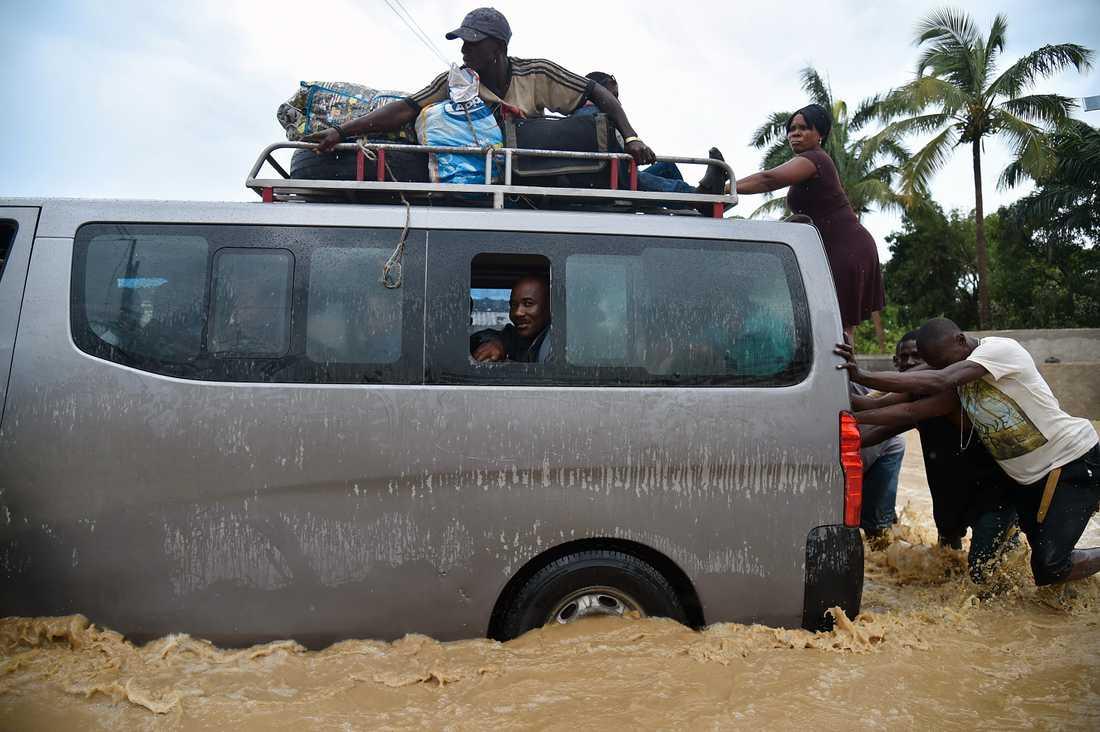 Översvämningar i Port-au-Prince, Haiti.