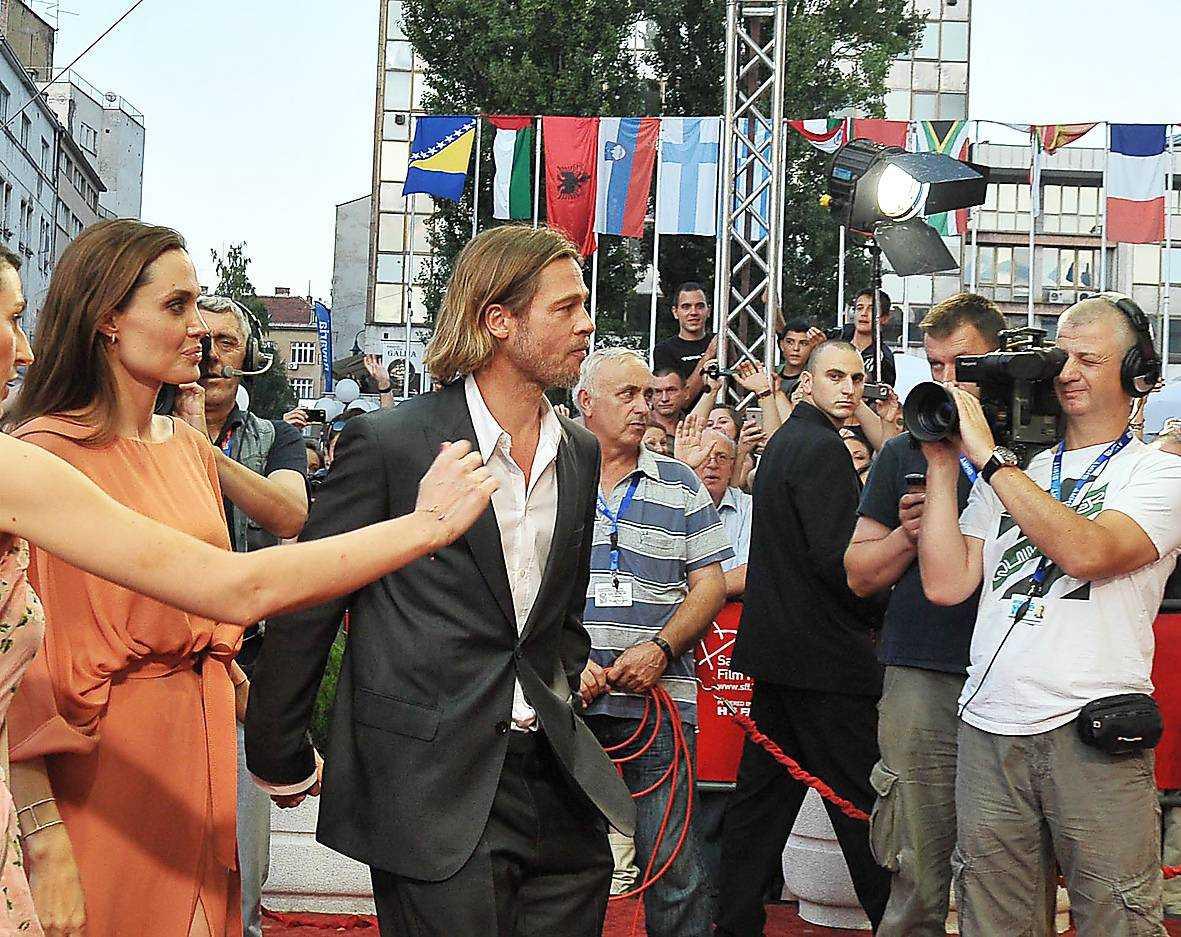 Angelina Jolie och Brad Pitt på Sarajevo internationella filmfestival 2011.