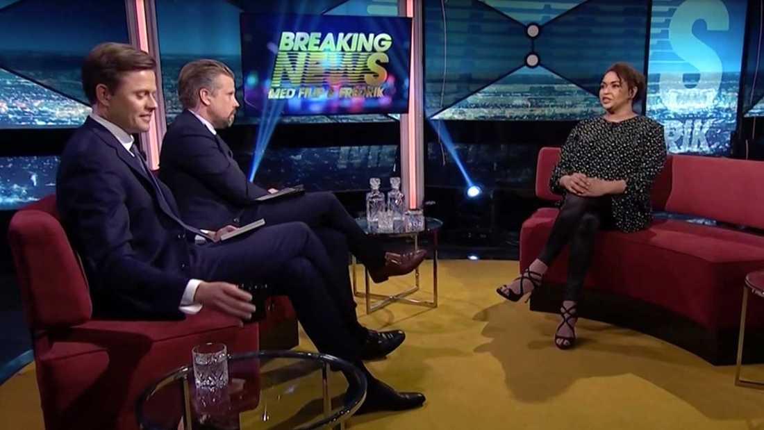 """Camilla Henemark gästar """"Breaking news""""."""
