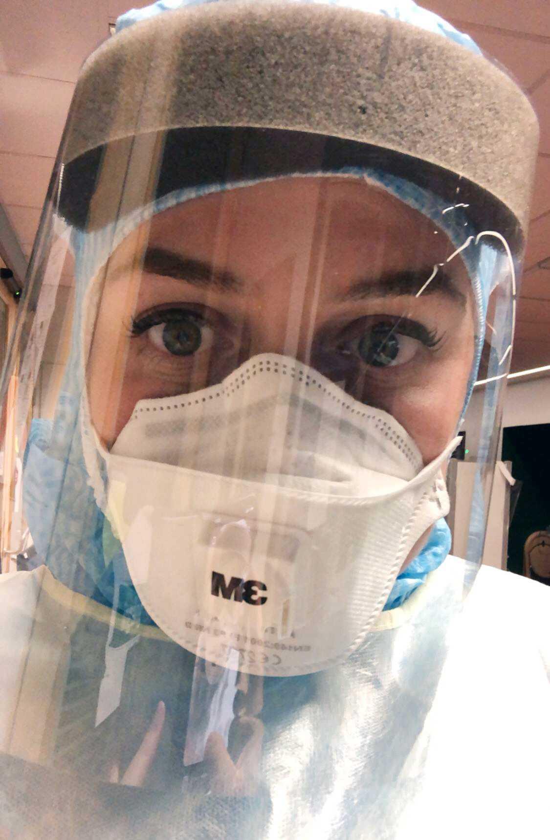 Matilda Nygren under arbetspasset.
