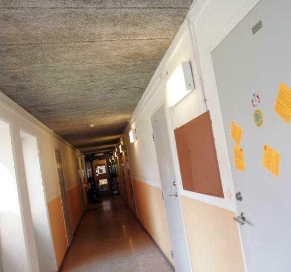 """Studentkorridor på """"Lappis"""" i Stockholm."""