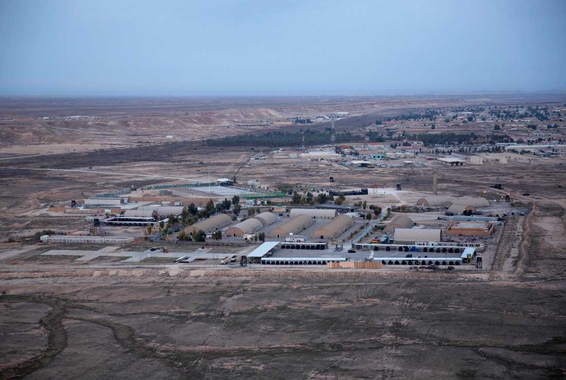 Flygbasen Ayn al-Asad i Anbar-provinsen i Irak.