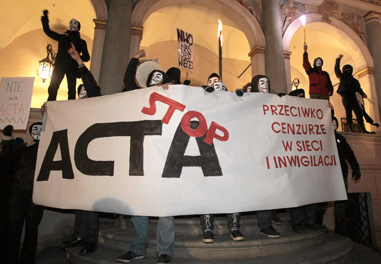 Acta-avtalet har skapat proteststormar i Polen.