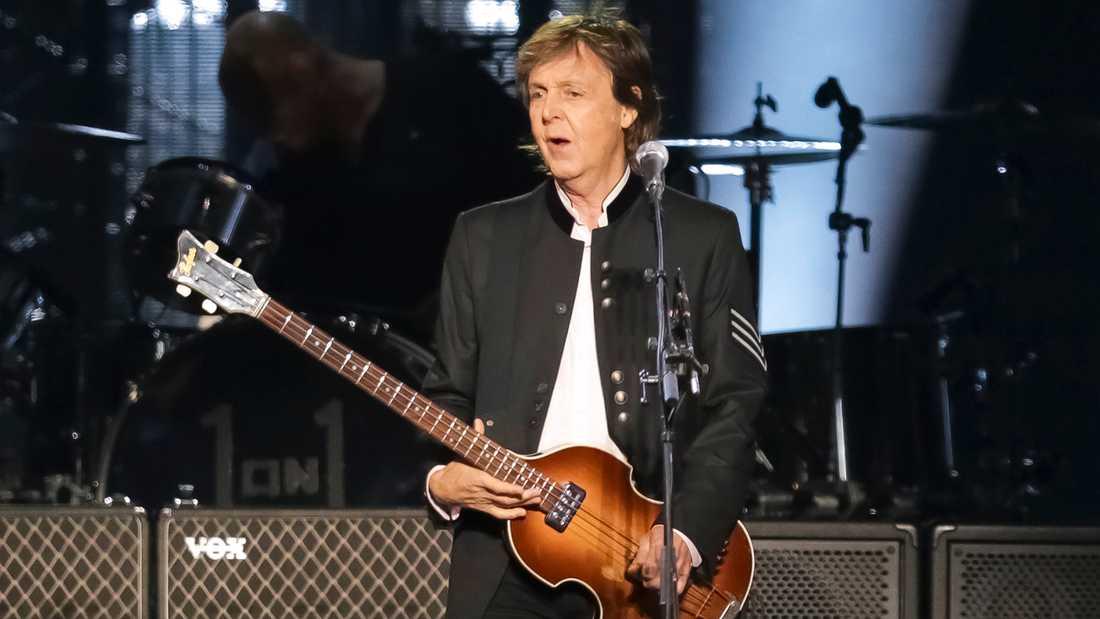 Paul McCartney vid en tidigare spelning i år.